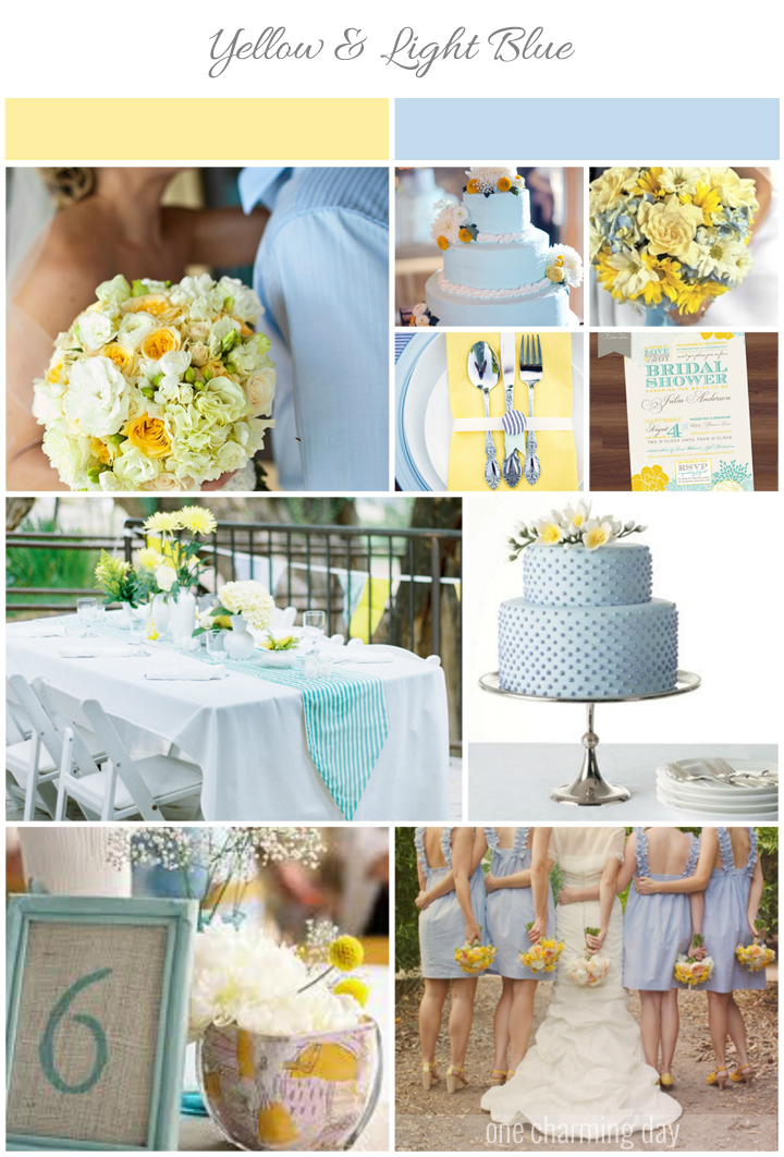 Fun Summer Wedding Colors Light Blue And Yellow One