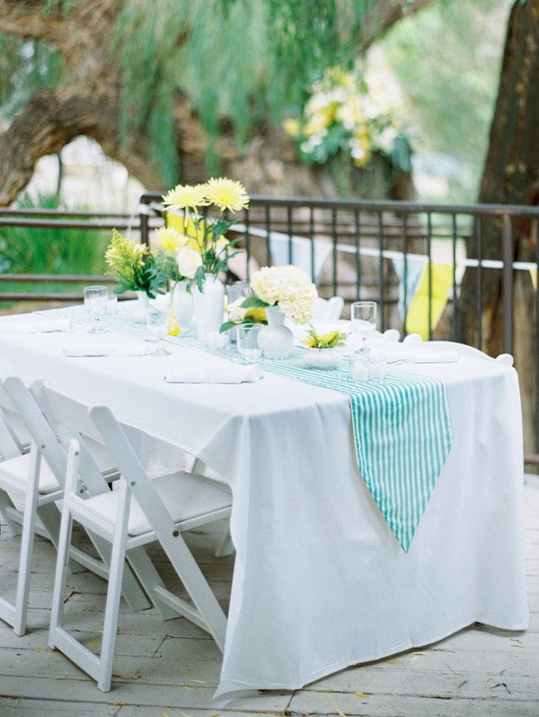 Fun Summer Wedding Colors: Light Blue and Yellow - One Charming Day