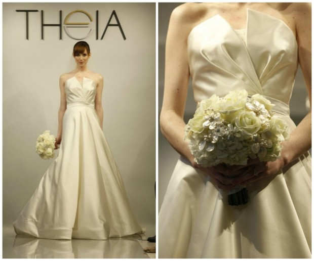 Simple Wedding Dresses Understated Bridal Gown Lwd With: Theia White Bridal Collection Spring 2014