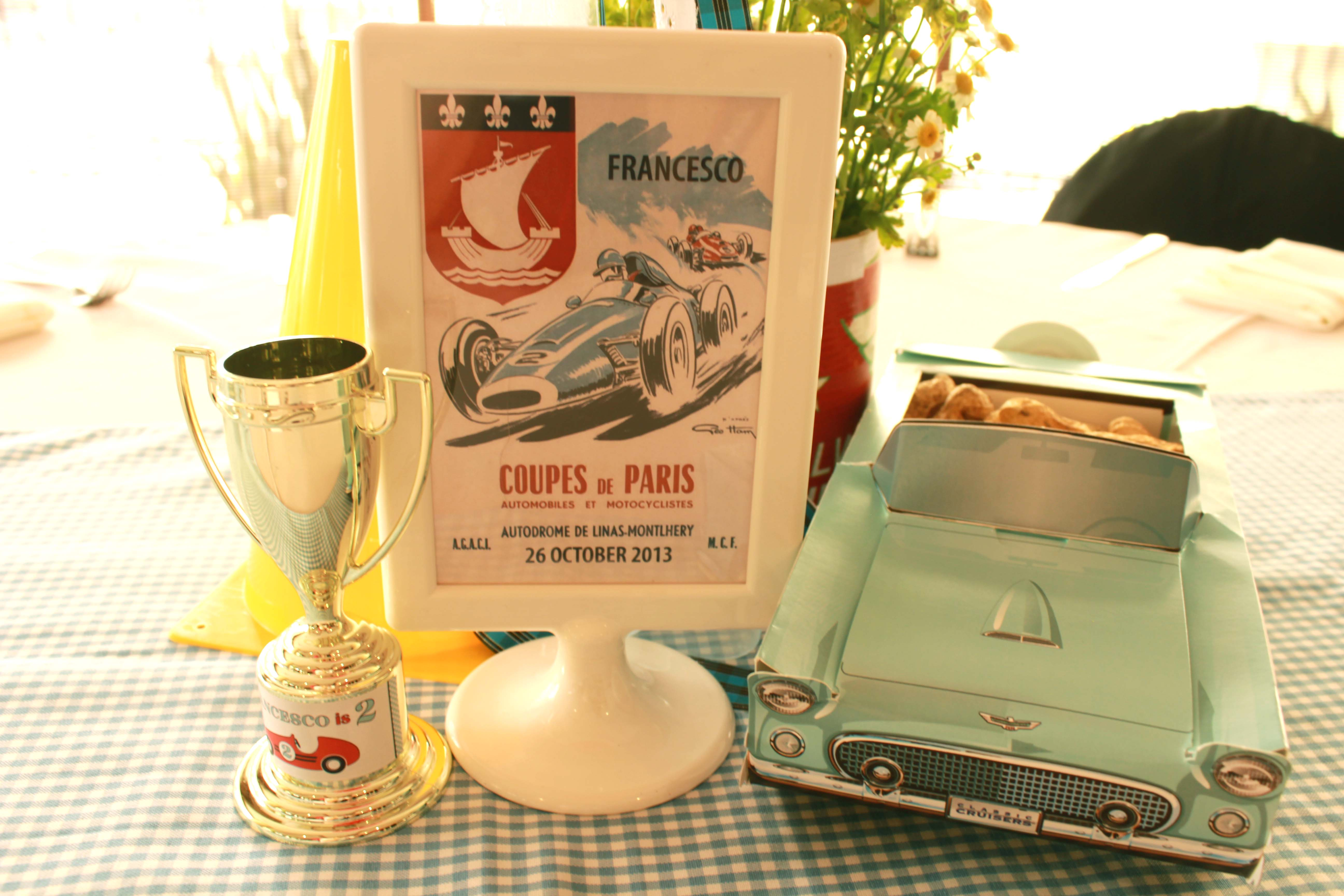 Vintage Race Car Birthday Party From Party Please One Charming Day