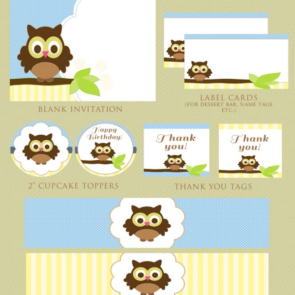 Free Owl Party Printables