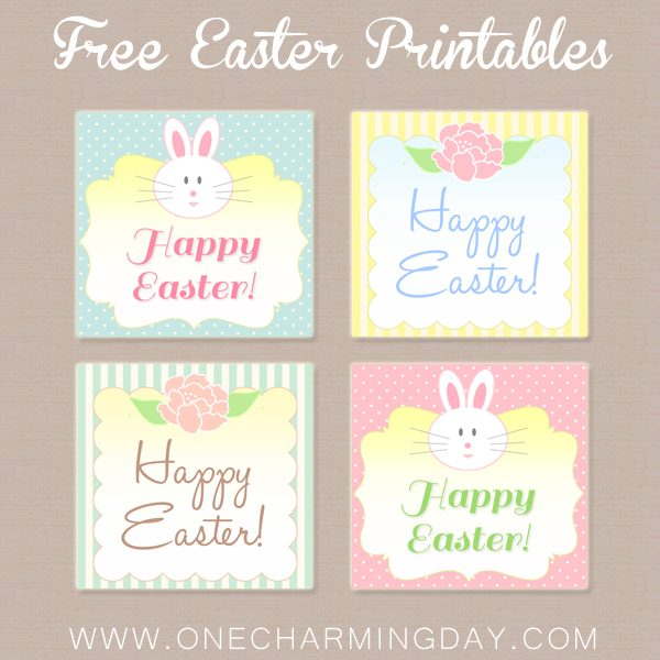 Free Easter Printable Tags