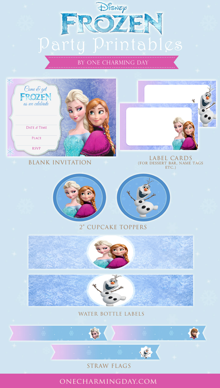 - Free Frozen Party Printables - One Charming Day