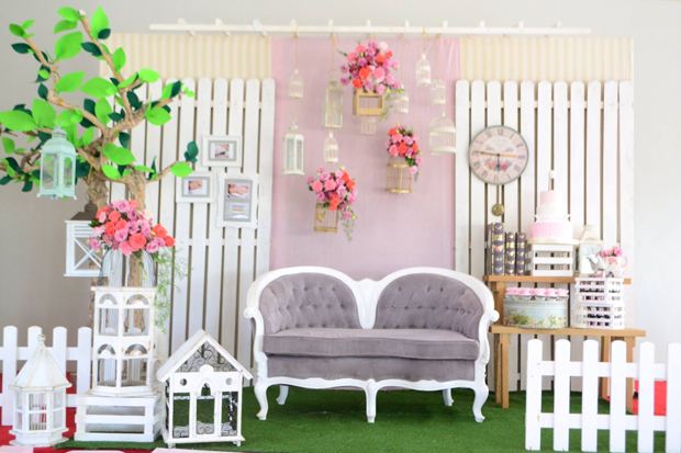 Pretty and dainty garden themed baptism one charming day for Christening garden party ideas