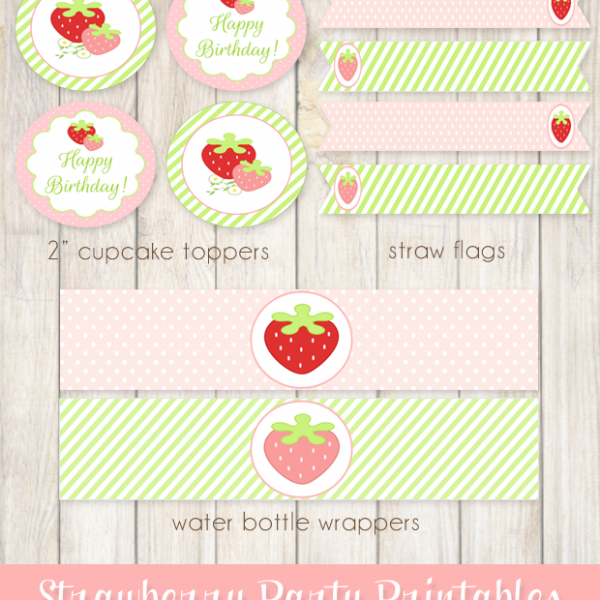 Free Strawberry Party Printables