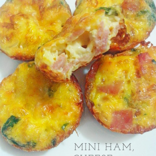 mini ham cheese spinach quiche