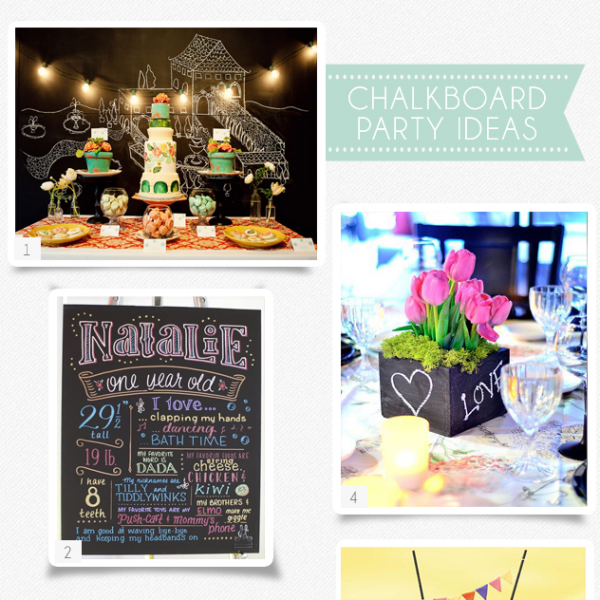 Party Ideas To Love: Chalkboard Party Decor