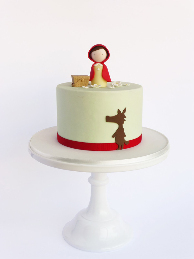 15 Beautiful Little Red Riding Hood Cake Designs One