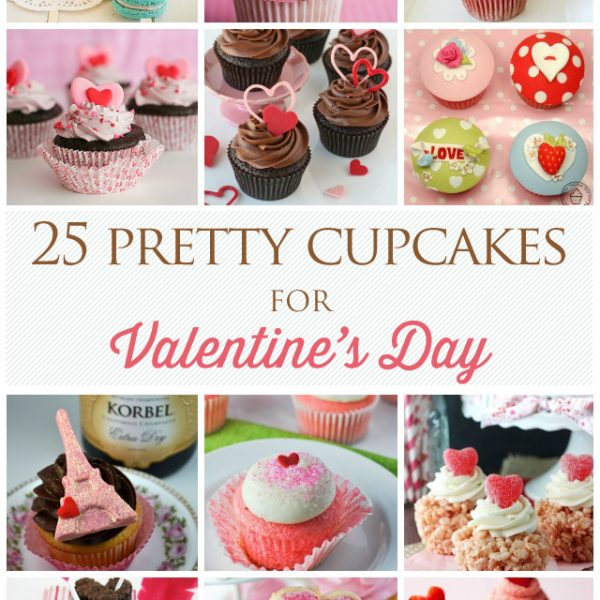 25 Pretty Cupcakes for Valentine's Day