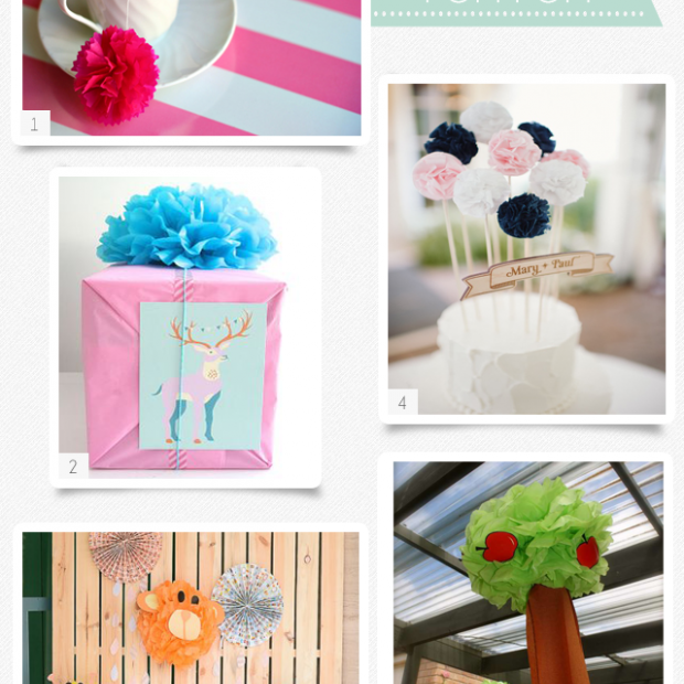 Paper Pompom Party Ideas